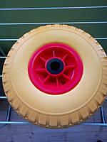 Колесо для тачки пенополиуретановое с роликовым подшипником 62-260х75-R,260 мм (3.00-4)