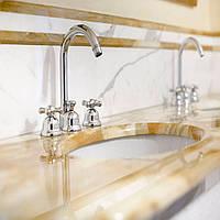 Материал желтый мрамор итальянский, столешница для ванной комнаты: фото, описание, купить., фото 1