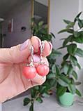 Комплект ′Розовый коралл′: бусы и серьги., фото 9