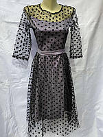 Сукня жіноча ошатне з сіточкою розміри. 42-48 (5кол)