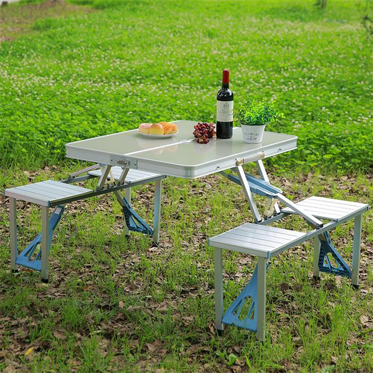 Складной алюминиевый Picnic Table стол для пикника со стульями