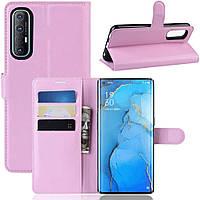 Чехол-книжка Litchie Wallet для Oppo Reno 3 Pro Pink
