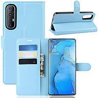 Чехол-книжка Litchie Wallet для Oppo Reno 3 Pro Blue