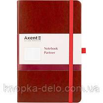 Книга записная Axent Partner Lux 8202-05-A, А5-, 96 листов, клетка, бордовая, фото 2
