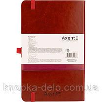 Книга записная Axent Partner Lux 8202-05-A, А5-, 96 листов, клетка, бордовая, фото 3