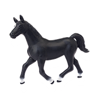 Объемный пазл 4D Master Черная лошадь