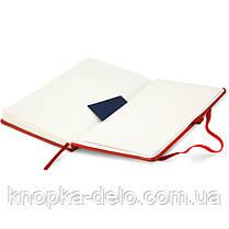 Книга записная Axent Partner Lux 8202-06-A, А5-, 96 листов, клетка, красная, фото 3