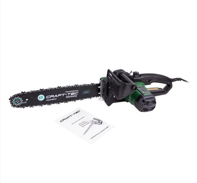Электропила Craft-tec EKS-405 (1 Шина + 1 Цепь) (автомат.натяжка цепи, ручной масл.насос)