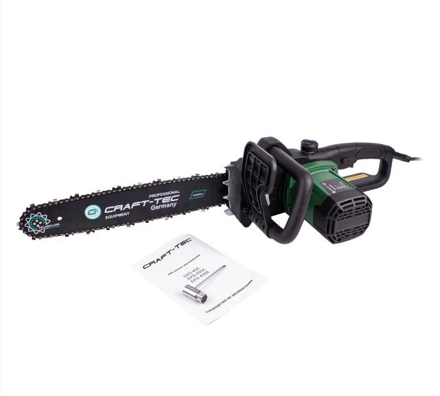 Электропила Craft-tec EKS-405A (1 Шина + 1 Цепь) (быстрый зажим цепи, автомат.масл.насос)