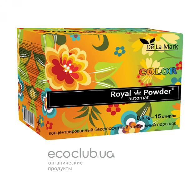Порошок стиральный бесфосфатный для цветных вещей Color Royal Powder DeLaMark 0,5кг
