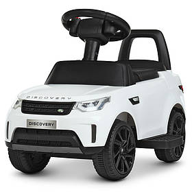 Дитячий електромобіль 2 в 1 каталка-толокар Land Rover (мотор 22W, MP3, TF, USB) Bambi M 4462-1 Білий