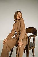 В'язаний теплий костюм: светр оверсайз і широкі штани, дуже приємна тканина до тіла, добре тягнеться