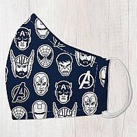 Маска защитная для лица, размер S-M Супергерои подарок на день рождения оригинальный подарок на день рождения