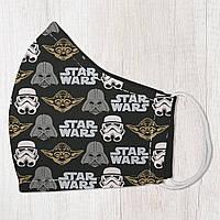 Маска защитная для лица, размер S-M Star wars подарок на день рождения оригинальный подарок на день рождения