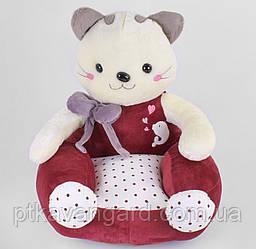 Кресло детское мягкое Котик игрушка 44х46х49 см B 34631