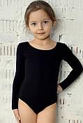 Боди купальник трико  гимнастический для танцев балета хлопковый черный