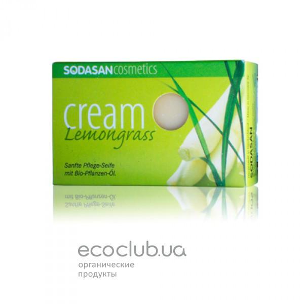Мыло-крем для лица с маслами Ши и Лемонграсса Lemongrass органическое Sodasan 100г
