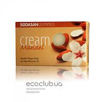 Мыло-крем для лица с маслами Ши и Миндаля Almond органическое Sodasan 100г