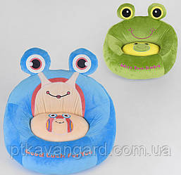 Кресло детское мягкое игрушка 2 вида, Лягушка, Улитка 53х40х44 см C 44363
