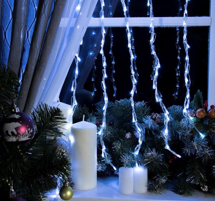 Электрическая гирлянда Водопад линза 8 мм 240 LED 2 м * 2 м, белый