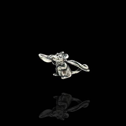 Серебряная кошельковая мышь с ложкой, фото 2