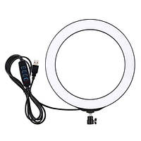 LED лампа селфи + держатель Studiо-1 d-16 без штатива (черная)