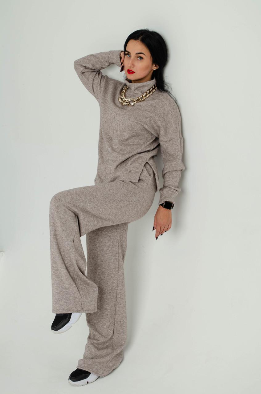 """Модный женский костюм, бежевый  """"340""""     Размеры двойные 44-46,48-50."""