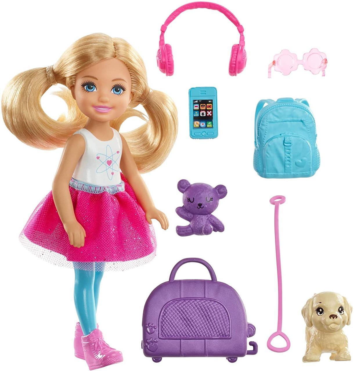 Кукла Барби Челси путешественница Barbie Club Chelsea FWV20