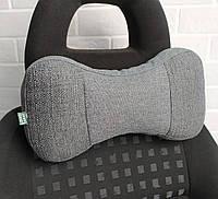 Автомобильная подушка на подголовник под голову и шею EKKOSEAT. Трёхсекционные.