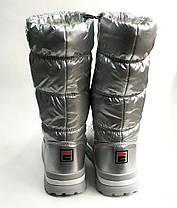 Детские дутики зимние теплые сапоги на зиму для девочки серебро Alaska 34р 21см, фото 2