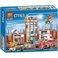 """Детский конструктор для мальчика Bela Cities 10831 """"Пожарная часть"""", 958 деталей"""