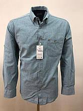 Сорочка чоловіча, прямого покрою, з довгим рукавом Birindelli IND-01-1648 100% бавовна M(Р)