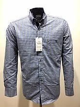 Сорочка чоловіча, прямого покрою, з довгим рукавом Birindelli IND-01-1796 100% бавовна L(Р)