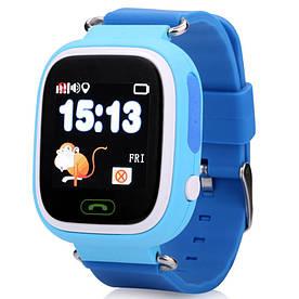 Дитячі телефон-годинник UWatch Q90 з GPS-трекером Blue (1058-8313)