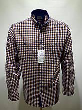 Сорочка чоловіча, прямого покрою, з довгим рукавом Birindelli IND-01-1776 100% бавовна M(Р)