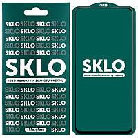 Противоударное Защитное Закаленное Стекло SKLO 5D (full glue) для Xiaomi Redmi Note 9 Олеофобное / с Рамкой по