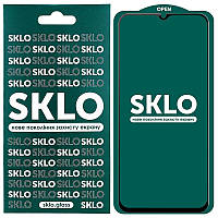Противоударное Защитное Закаленное Стекло SKLO 5D (full glue) для Xiaomi Mi 10 Lite Олеофобное / с Рамкой по
