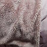 Модное теплое красивое зимнее пальто для девочки. Цвет- пудровый. Подкладка-махра. На капюшоне отстежной мех., фото 2