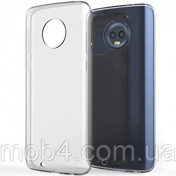 Силиконовый прозрачный чехол для Motorola Moto G6 plus