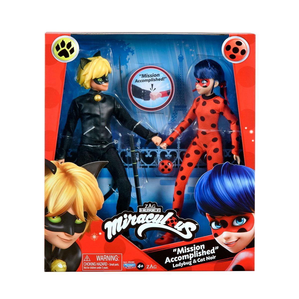Куклы Леди Баг и Супер-Кот S2 – Миссия Выполнена 26 см Miraculous Mission Accomplished Ladybug and Cat Noir