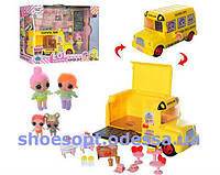 Игровой набор Школьный автобус LOL Surprise Лол + куклы, мебель