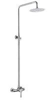 Душевая стойка в ванную и душевую кабину нержавейка Mixxus круглая 20 см