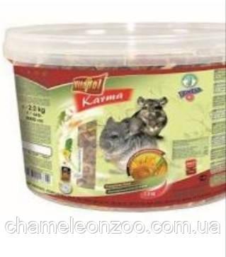 Vitapol Полнорационный корм для шиншилл  2 кг ведро