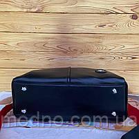 Жіноча шкіряна містка сумка середнього розміру на і через плече, фото 9
