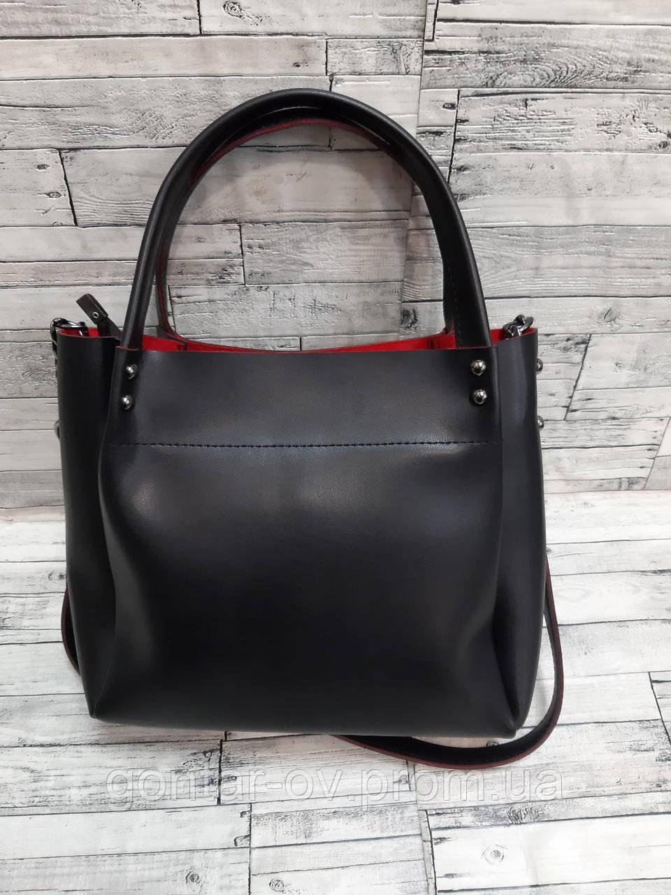 Женская черно-красная сумка Dior