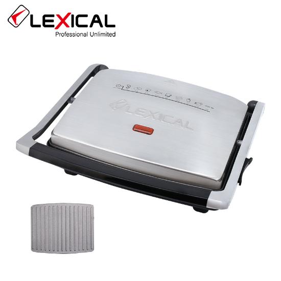 Гриль-пресс электрический LEXICAL LSM-2506  с гранитным покрытием 2000W