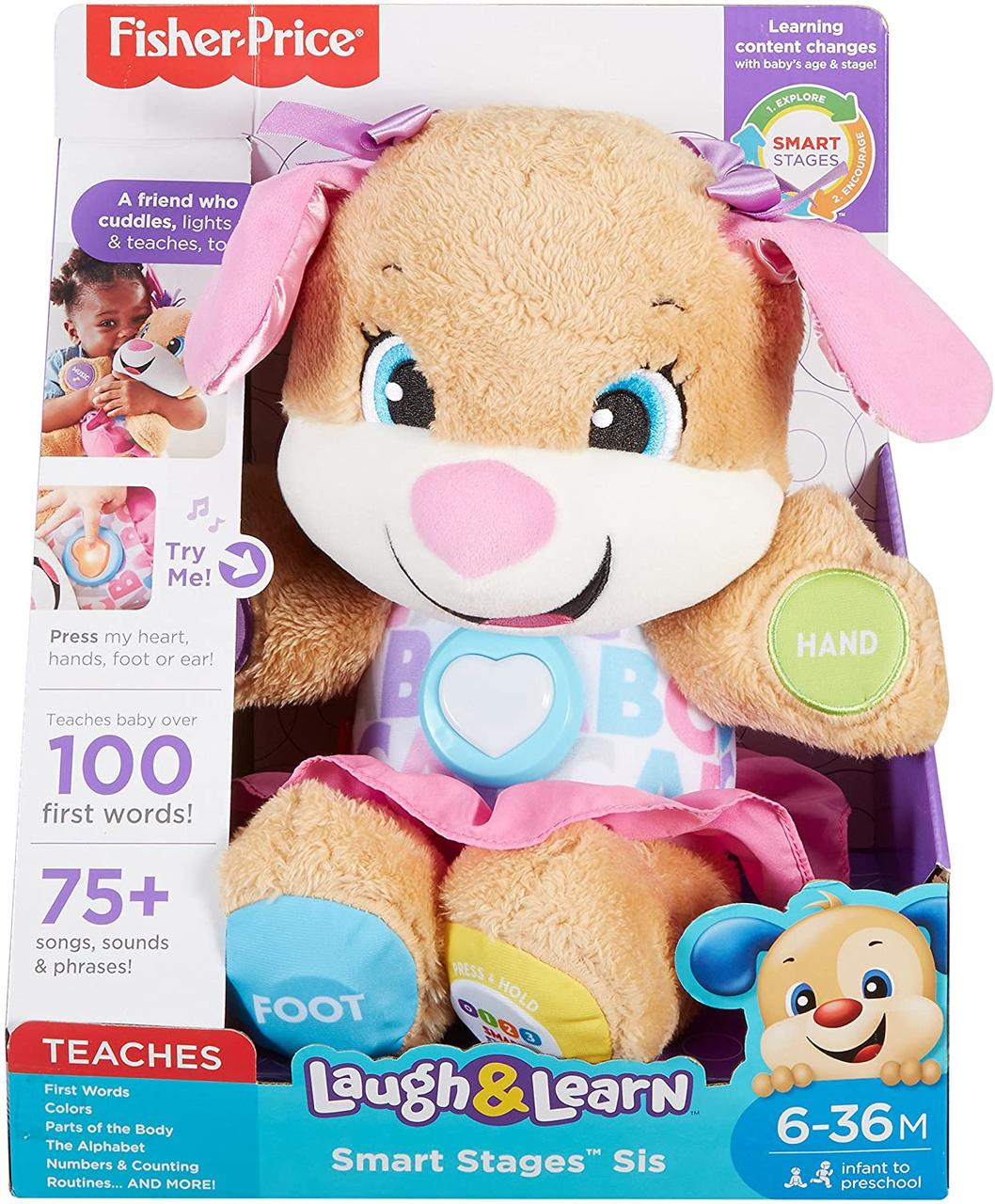 Интерактивная игрушка Умный щенок сестричка Фишер Прайс Fisher-Price Laugh & Learn puppy Sis
