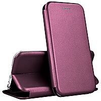 Чехол книжка для Samsung A50 A505 бордовый