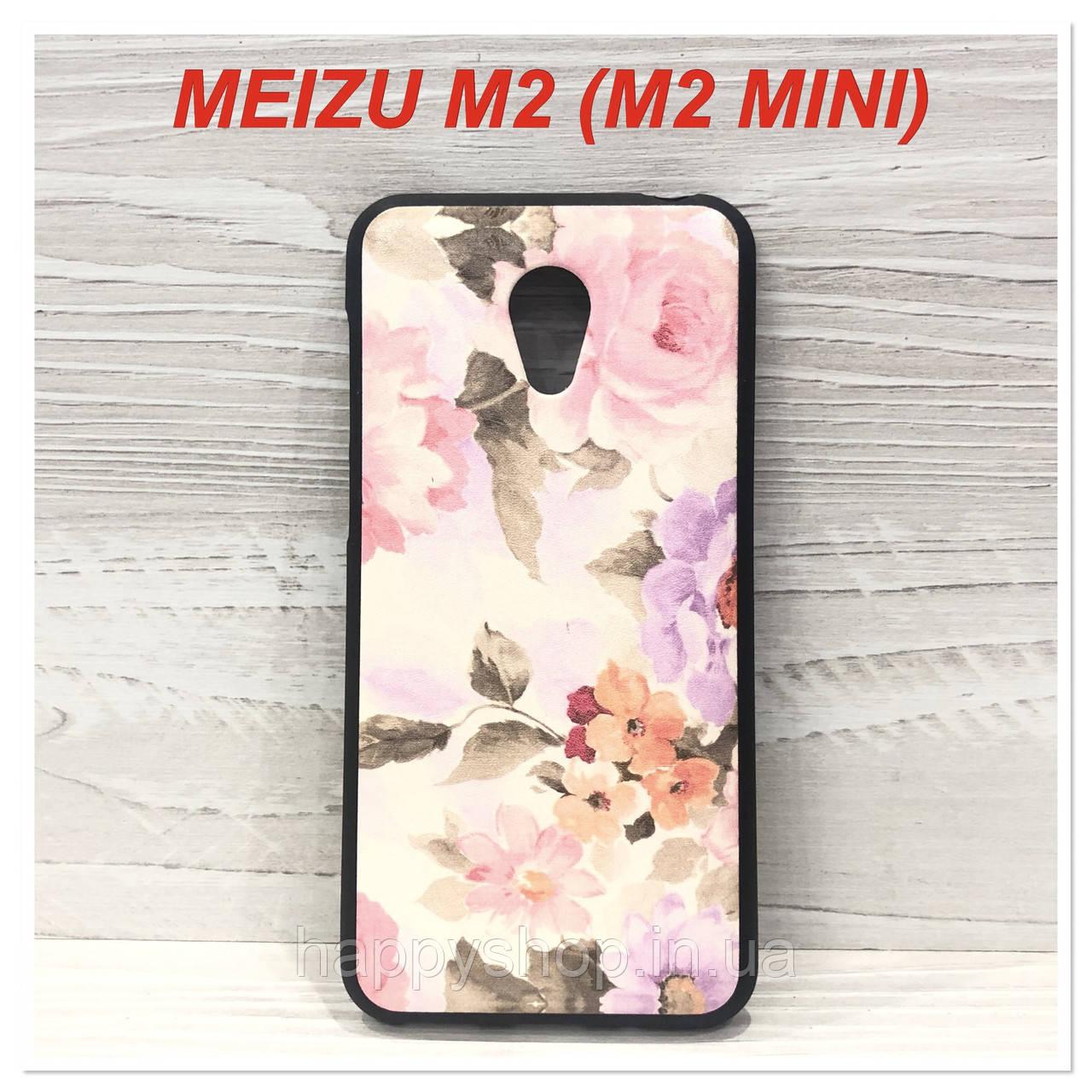 Силиконовый чехол для Meizu M2 (M2 mini) Flowers