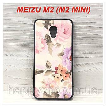 Силиконовый чехол для Meizu M2 (M2 mini) Flowers, фото 2
